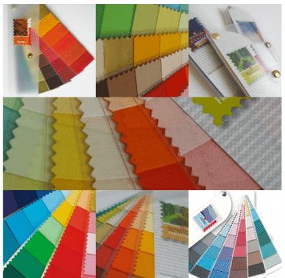 kleurenwaaier stof losse stroken